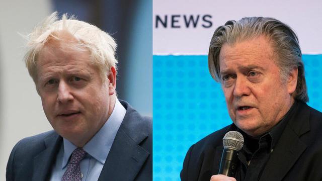 Boris Johnson et Steve Bannon auraient notamment été en contact au moment de la démission du premier de son poste de ministre des Affaires étrangères, en juillet dernier.