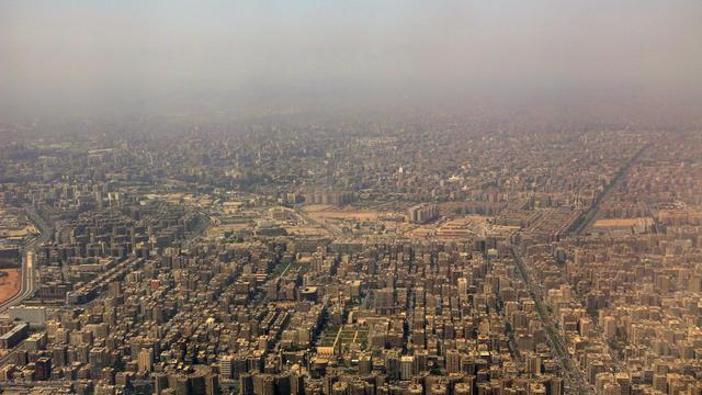 Le Caire, l'une des villes les plus polluées au monde, en avril 2015.