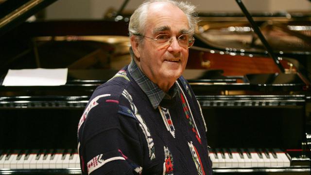 Michel Legrand lors de répétitions avant un concert avec le pianiste cubain Chucho Valdes à Madrid