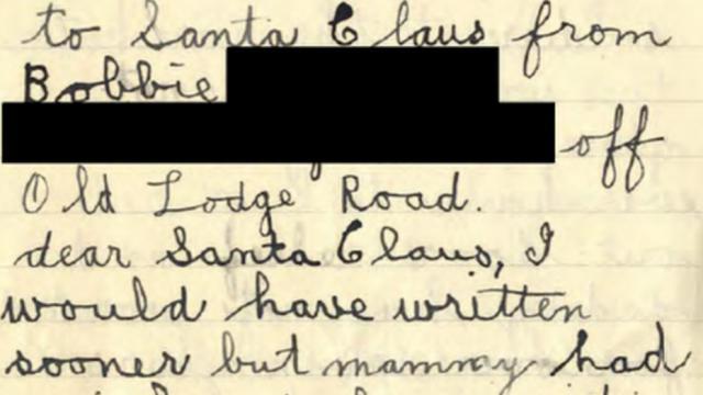 Site Lettre Au Pere Noel.Royaume Uni Une Dechirante Lettre Au Pere Noel De 1932