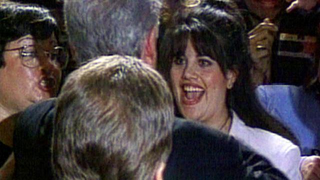 Monica Lewinsky et le président Bill Clinton le 8 mai 1996.