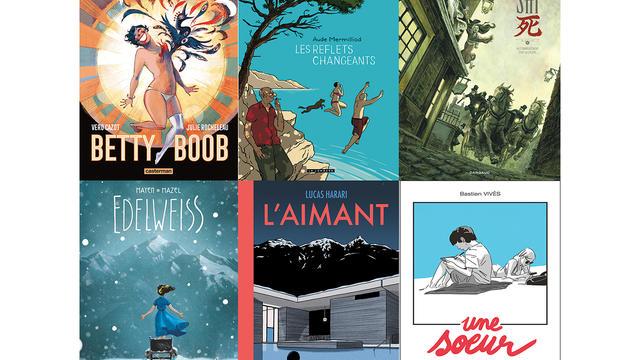 L'un de ces six albums sélectionnés par les lecteurs remportera le prix mercredi 17 janvier.