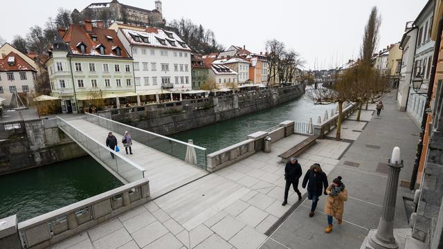 Le centre-ville de Ljubljana (illustration).