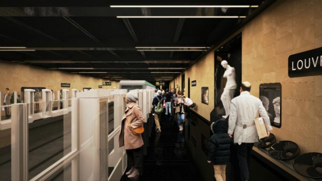 La station de métro est fermée pour travaux du 7 septembre au 25 novembre.