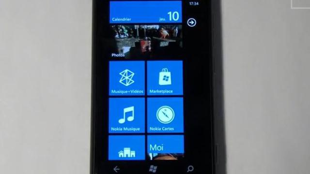 Un nokia Lumia 800 / image d'illustration