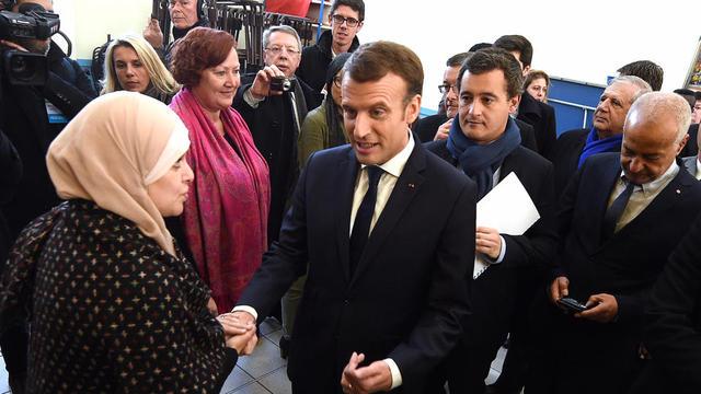 Emmanuel Macron à la rencontre des acteurs de la ville, à Tourcoing, le 14 novembre 2017.
