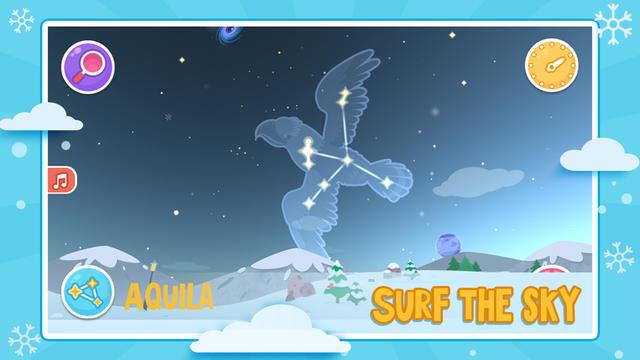 Star Walk Kids référence 49 constellations et 700 étoiles.