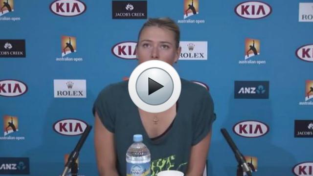 Maria Sharapova en conférence de presse.