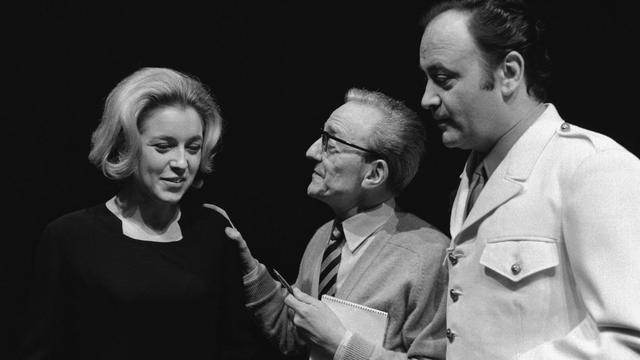 L'actrice Marie Dubois avec Gerard Lebreton et Raymond Pellegrin en 1969.