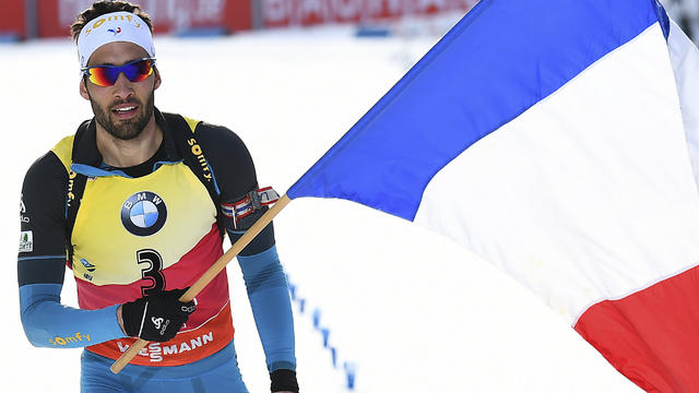 Le biathlète Martin Fourcade sera le porte-drapeau de l équipe de France  pour la cérémonie d ouverture des JO d hiver.  AFP   dd558f0bf066