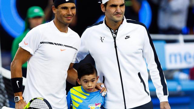 Roger Federer a battu Rafael Nadal en finale de l'Open d'Australie en janvier.