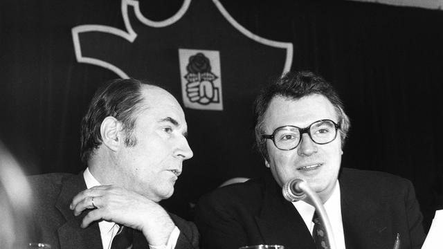 Avec François Mitterrand.