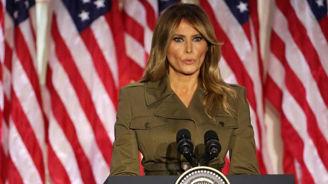 Melania Trump a longuement évoqué mardi 25 août l'impact du Covid-19 en Amérique.