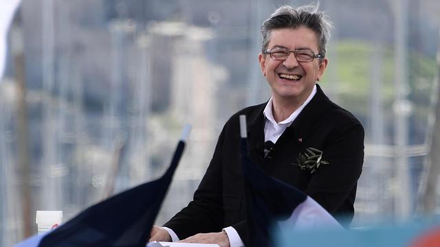 Le candidat de la France insoumise, Jean-Luc Mélenchon, dimanche 9 avril 2017 à Marseille.