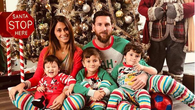 Lionel Messi a passé les fêtes en Argentine, avec sa famille.