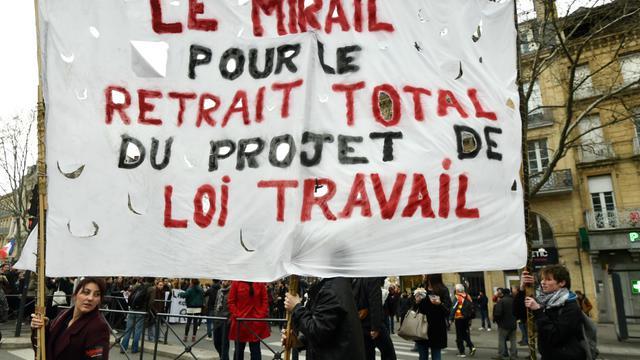 Une manifestation des étudiants du Mirail contre la loi Travail, dimanche 17 avril à Toulouse.