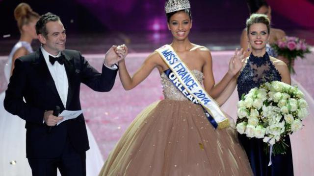 Flora Coquerel, couronnée Miss France 2014, le 7 décembre 2013 à Dijon