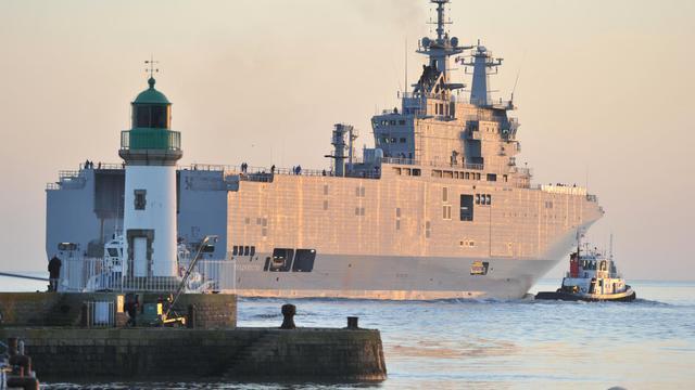 Le Vladivostok, que la France doit livrer à la Russie.