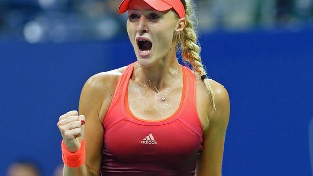 Kristina Mladenovic a réalisé un tweener lors de son succès en 8e de finale à l'US Open.