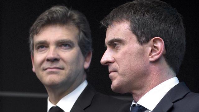 Arnaud Montebourg et Manuel Valls.