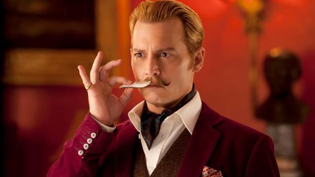 Johnny Depp dans la peau de l'antihéros Charlie Mordecai dans le film de David Koepp.