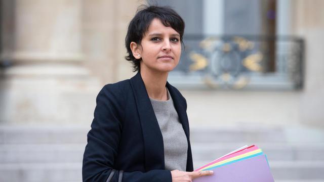 Najat Vallaud-Belkacem le 9 janvier 2013 à l'Elysée à Paris.