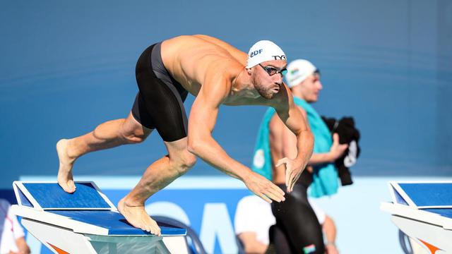 Jérémy Stravius est le capitaine de l'équipe de France de natation.