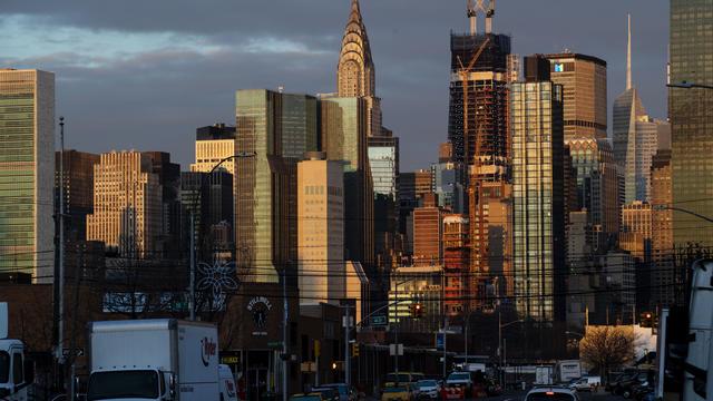 Une vue de Manhattan (illustration).
