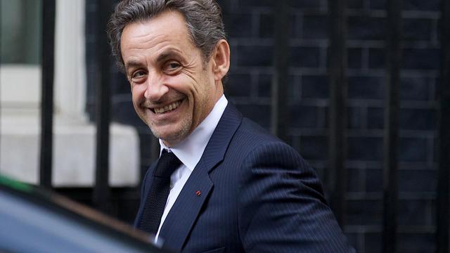 Nicolas Sarkozy, candidat à la présidence de l'UMP.