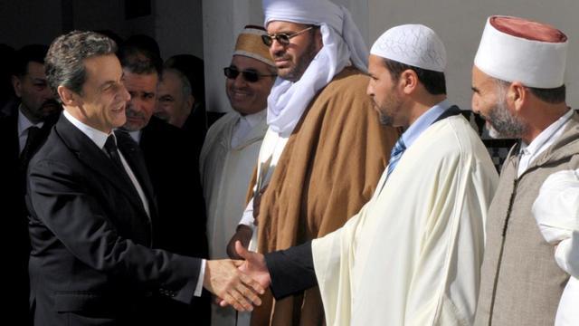 Nicolas Sarkozy en visite à la Mosquée de Paris le 14 mars 2012