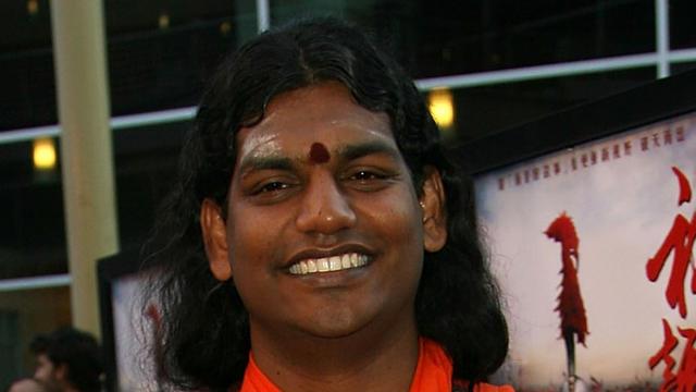 Le gourou indien Paramahamsa Nithyananda à Los Angeles, en 2007, à la première d'un film.