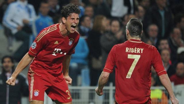 Mario Gomez et Frank Ribéry, victorieux à Marseille (0-2)