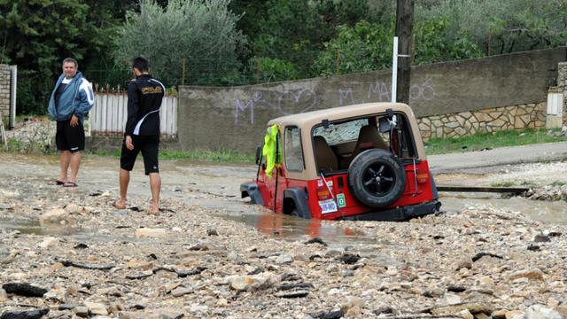 Le Gard en proie aux inondations.