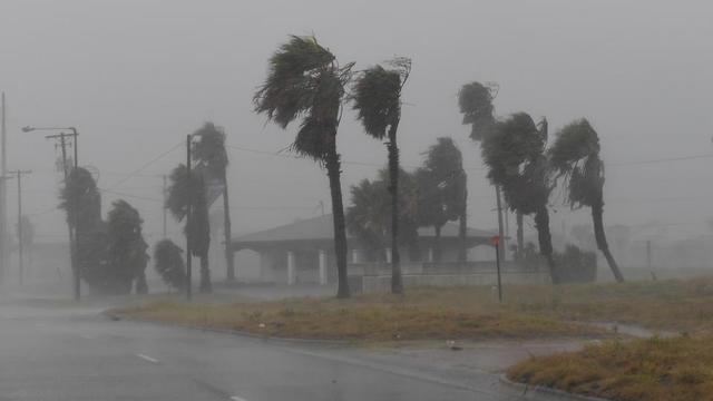 La ville de Corpus Christi, au Texas, durement touchée par l'ouragan Harvey samedi dernier.