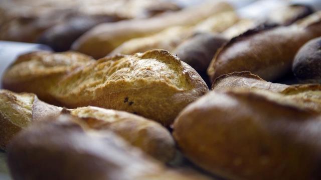 Des baguettes de pain.