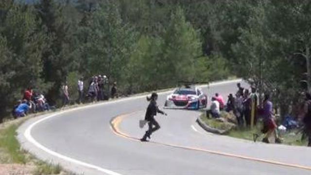 La grosse frayeur de Loeb à Pikes Peak
