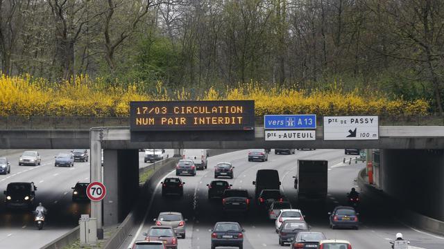 La circulation alternée avait été mise en place le 17 mars 2014.