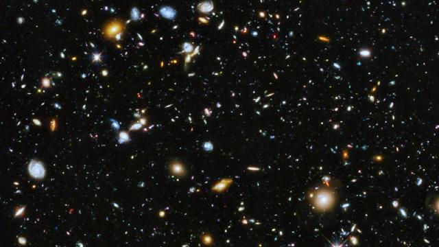 Environ 10.000 galaxies sont exposées dans le cliché