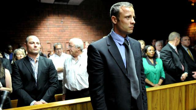 Oscar Pistorius lors de son procès. [AFP]