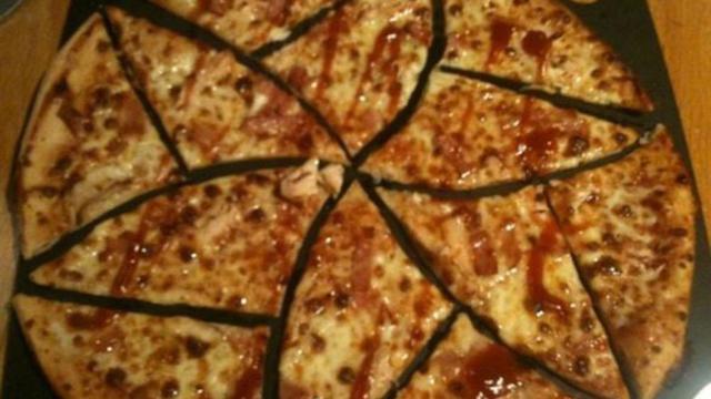 Les mathématiciens ont même testé leur méthode sur une vraie pizza.