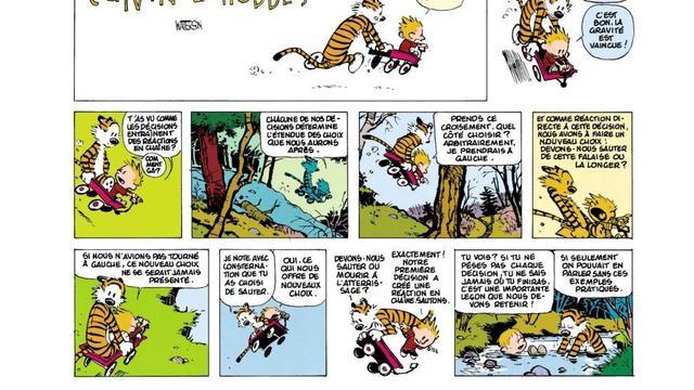 """Une page de l'ouvrage """"Calvin et Hobbes, Collector"""" de Bill Watterson paru chez Hors Collection."""