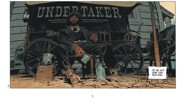 """Une case de la bande dessinée """"Undertaker"""" de Xavier Dorison et Ralph Meyer éditée chez Dargaud."""
