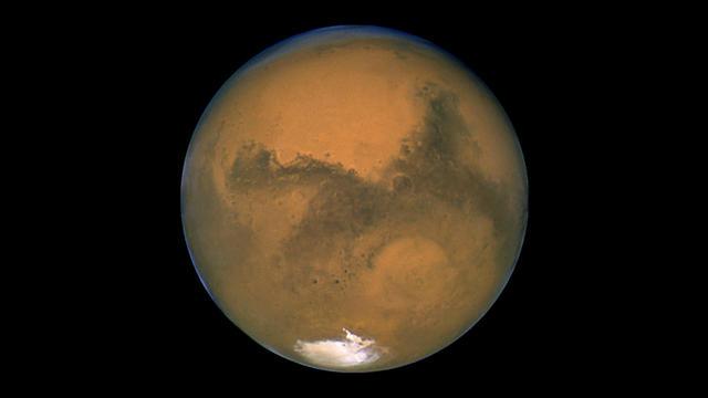 Mars photographiée par le télescope Hubble.