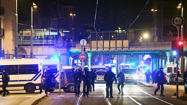 Des policiers lors de l'attentat de Strasbourg, qui a fait cinq morts et onze blessés.