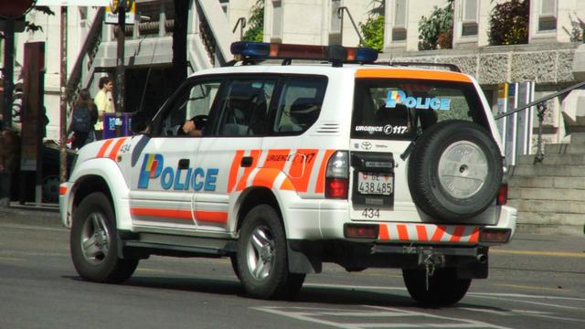 Une voiture de police suisse.