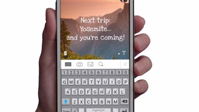 Pop Messenger permet de discuter en ajoutant du texte à des images.