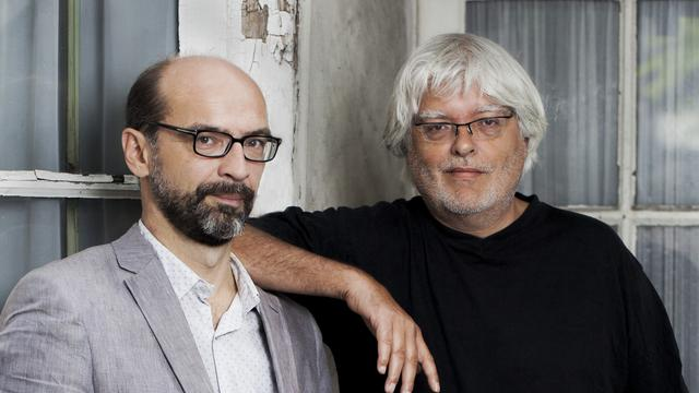 """Philippe Di Folco et Yves Stavridès, auteurs de l'essai """"Criminels. Histoires vraies""""."""
