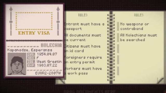 Papers, please invite à explorer la vie d'un douanier. Un chef d'oeuvre.