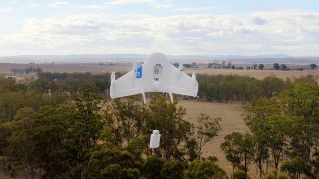 Le project wing de Google X promet de livrer de petits colis avec un drone