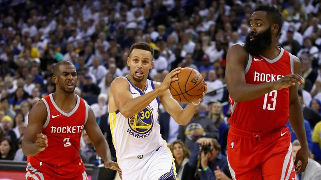 2d7749bf6d90 Chris Paul et James Harden seront-ils capables de stopper Stephen Curry et  les Warriors en finale de conférence Ouest    EZRA SHAW   GETTY IMAGES  NORTH ...